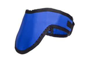 Thyroid Shield Light Weight Radiation Protection 0.5mm Pb Lead Equivlancy in Royal Blue